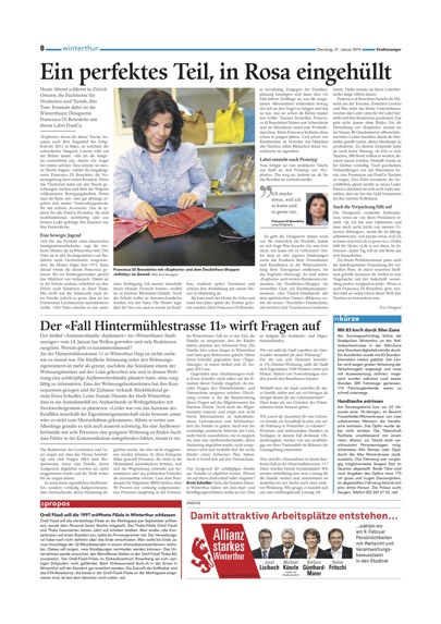 FranCa in Winterthurer Stadtanzeiger January 14