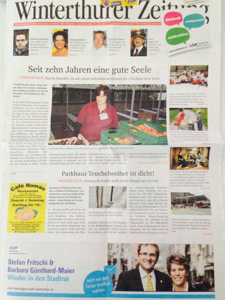 FranCa in Winterthurer Zeitung June 14