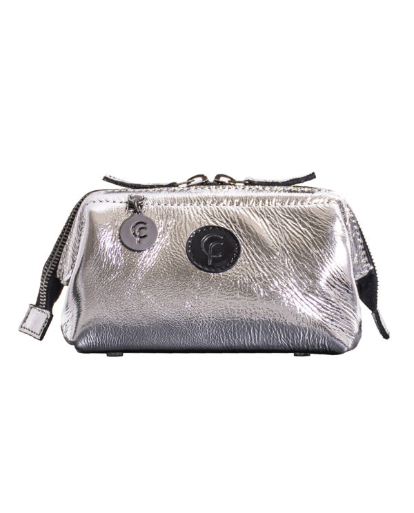 FranCa Cosmetic Pouch ARGENTO LACK front