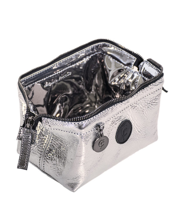 FranCa Cosmetic Pouch ARGENTO LACK interno